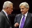 Bruxelles, Giulio Tremonti e Jean-Claude Trichet.
