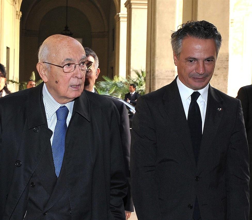 Giorgio Napolitano e Giuseppe Mussari