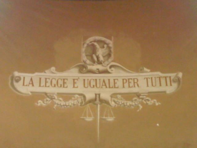 """""""La Legge è uguale per tutti"""". Un promemoria per il Ministro di Grazia e Giustizia, Anna Maria Cancellieri."""