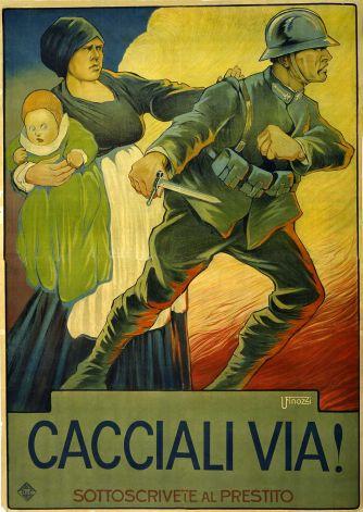 Manifesto propagandistico volto alla raccolta dei fondi necessari a finanziare la Grande Guerra.