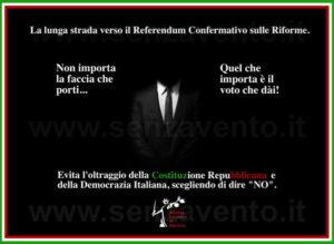 """""""Tempus fugit""""... Che vuoi che siano i pochi mesi che ci separano dal Referendum Confermativo sulle Riforme? Preparati per tempo! Preparati a far risuonare il tuo """"NO"""" nell'urna; preparati a salvare la Costituzione Repubblicana; preparati a mantenere in vita la Democrazia in Italia e soprattutto, preparati a dare una spallata al Governo di Matteo Renzi & Co."""